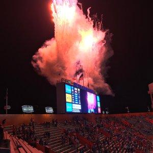 Touchdown fireworks!